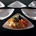 "Yoshi Triangle 7"" Salads Plate  Available In 3 Colors. Packed 120 to a Case."