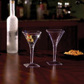 Yoshi 1 Piece Square Plastic 8 Ounce Martini Glasses. Packed 6 or 72 to a Case