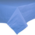 Long  Poly Backed Paper Table Covers Available in 24 Colors. Packed 12 to a Case