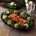 "14"" X  21"" Oval Plastic Serving Tray Available In 3 Colors. Packed 20 to a Case"