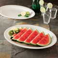 "11"" X 16"" Oval Plastic Serving Tray Available In 3 Colors. Packed 25 to a Case"