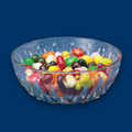 4 1/2 Inch Round Plastic Dessert Bowls. Packed 24 to a Case.