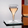 2 Ounce Mini Square Plastic Wine Glasses. Packed 8 or 96 Glasses to a Case.