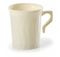 Flairware 8 Ounce Coffee Mugs Available in White or Clear. Packed 8 or 288 Mugs to a Case