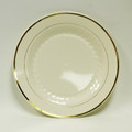 "Maryland Regal Ivory And Gold 6"" Cake Plates. Packed 120 to a Case"