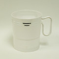 Maryland Regal White And Silver 8 Ounce Coffee Mugs. Packed 12 or 120 to a Case