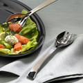 Regal Ultra 9 1/2 Inch Plastic Silver Serving Fork and Spoon Combo Pack. 72 Pieces to a Case