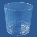 Luminere Crystal 9 Ounce Plastic Glasses. Packed 120 to a Case.