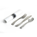 Glimmerware Rolled Cutlery Kit (Fork, Knife, Spoon, & Napkin) Packed 100 to a Case