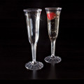 Yoshi 1 Piece Fluted Plastc  Champagne Glass - 5 Ounce. Packed 8 or 96 to a Case