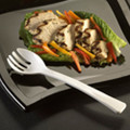 9 Inch Plastic Serving Forks Available In 3 Colors. Packed 144 to a Case