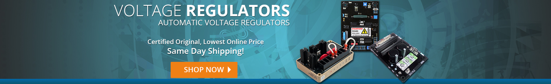 Automatic Voltage Regulators, Certified Original and Same day Shipping!