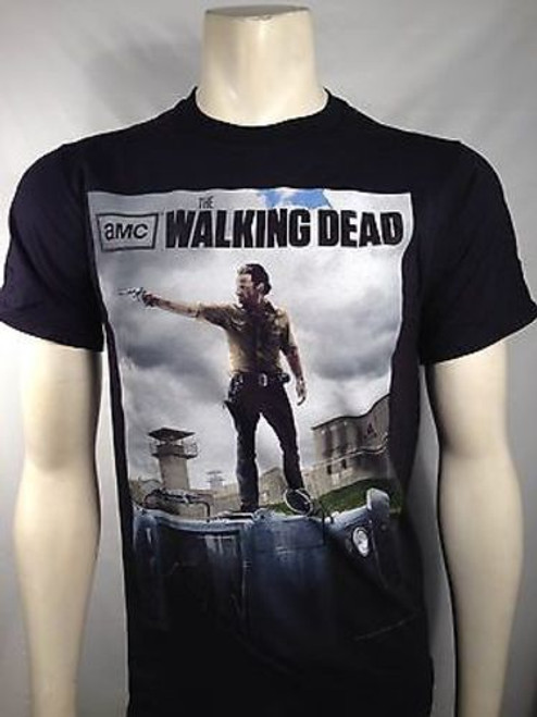 AUTHENTIC THE WALKING DEAD RICK POSTER ZOMBIE WALKER AMC T SHIRT S-3XL