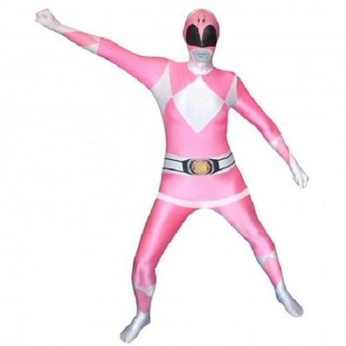 MORPHSUIT PINK POWER RANGER ADULT BODYSUIT SKIN SUIT HALLOWEEN COSPLAY COSTUME