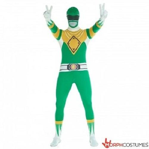 MORPHSUITS GREEN POWER RANGER ADULT BODYSUIT SKIN SUIT HALLOWEEN COSPLAY COSTUME