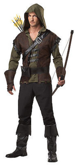ADULT MENS ROBIN HOOD MEDIEVAL VIGILANTE GOTHIC HALLOWEEN COSTUME COSPLAY S-XL