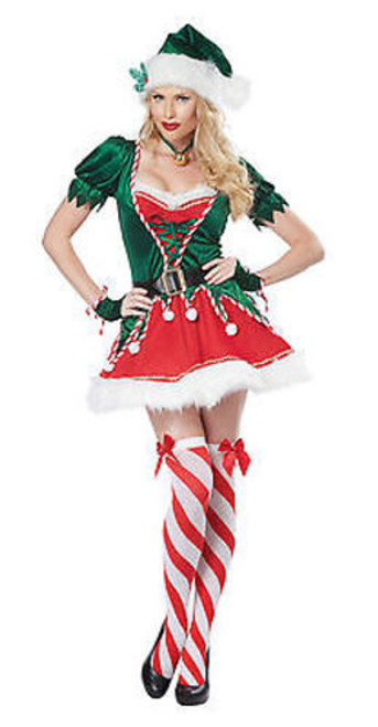 ADULT WOMENS SANTAS HELPER ELF CHRISTMAS EVE HOLIDAY HALLOWEEN COSTUME XS-XXL