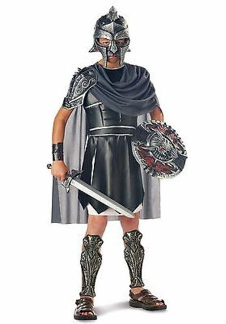 CHILDRENS GLADIATOR ROMAN GREEK WARRIOR SOLDIER ROME WAR HALLOWEN COSTUME S-L