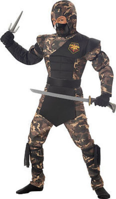 CHILDRENS SPECIAL OPS NINJA KARATE MILITARY ARMY ACTION  HALLOWEN COSTUME S-XL