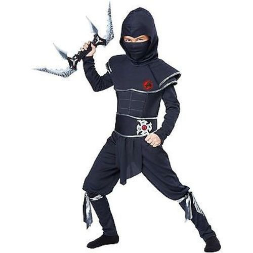CHILDRENS NINJA WARRIOR KARATE MASTER SOLDIER ASSASSIN HALLOWEN COSTUME XS-XL