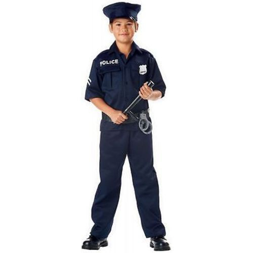 CHILDRENS POLICE OFFICER UNIFORM COP DETECTIVE BADGE HALLOWEN KIDS COSTUME XS-L