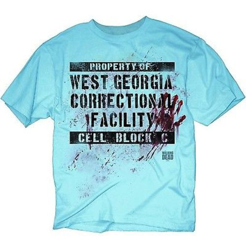 THE WALKING DEAD GEORGIA CORRECTIONAL CELL BLOCK C AMC SHEER SLIM T SHIRT S-3XL
