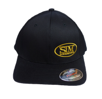 STM Black w/ Gold Logo Flexfit  Hat
