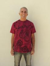 Burgundy 528 Musical T-Shirt (100% Organic Cotton)