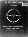 The Virus Cancer Program 1977