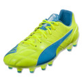 Puma Evospeed 1.4 Leather FG - Yellow/Blue