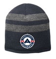 NCA Fleece Lined Beanie, Navy/Athletic Oxford - Front