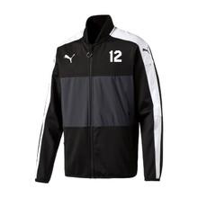 Puma Veloce Stadium Jacket, Black, Front - Timber Barons