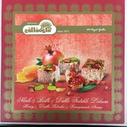 Pomegranate Turkish Delights w/ Honey & Pistachio nuts  Narli Cifte Fistikli Lokum (400gr)
