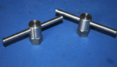 "600S and C3 1 Inch Hex Swivel Clamps x 2"" tall with 5/8:11 Threads"