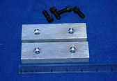 4-1/2 x 1-1/4 x 5/8 Aluminum Wilton Vise Jaws:  Fits the Post 1974 Wilton #450S Vises