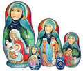 Silent Night Nativity Nesting 5 Piece Set