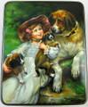 Girl with Puppies by Sverlova