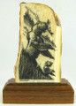 Bear with Cub Scrimshaw by Geoff Olson