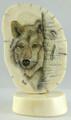 Wolf Scrimshaw by Steve Revet-SOLD