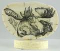 Moose Scrimshaw by Steve Revet