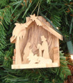 Small Groto with Nativity and Palm