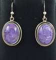 "Charoite Earrings ""Sweetness"""