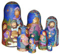 Handcrafted of European linden wood and handpainted and signed by the artist Olga Shiryaeva. Made in Russia.