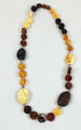 Amber Bead necklace Multi-Colored