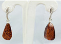 Amber Earrings, Natural Shape Dangle