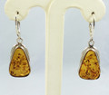 Amber Earrings, Gentle Pyramid