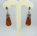 Amber Long Teardrop Earrings
