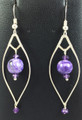 "Charoite Earrings ""Regal"""