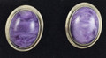 "Charoite Earrings ""Classy"""