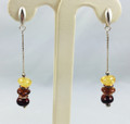 Multi-Colored Dangle Amber Earrings